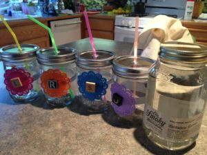 Jars for backyard campout